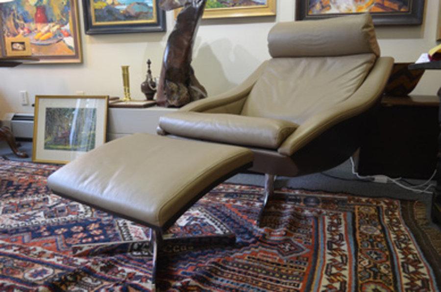 Roche Bobois Nelo Chair & Ottoman | Ingram Art & Antiques